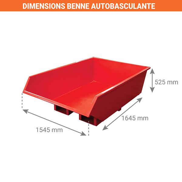 dimensions benne autobasculante