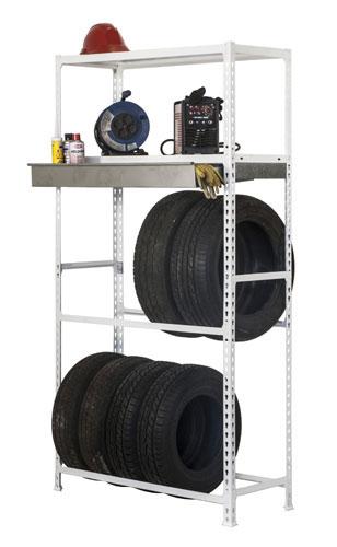 Etagere pour garage range pneu