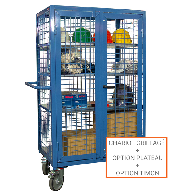 options chariot grillage verrouillable