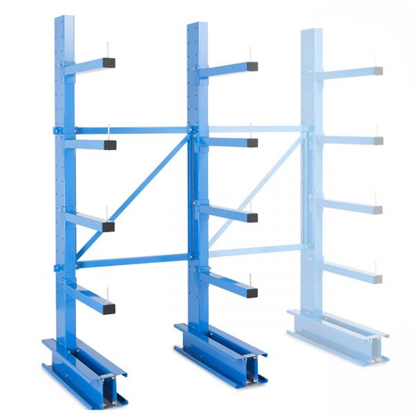 Rack cantilever pour charge mi-lourde 1 coté