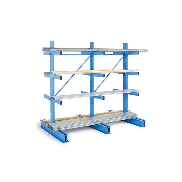 Rallonge rack cantilever léger double