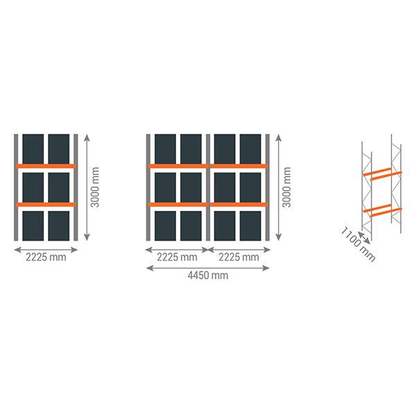 schema rack palettes 2n2225