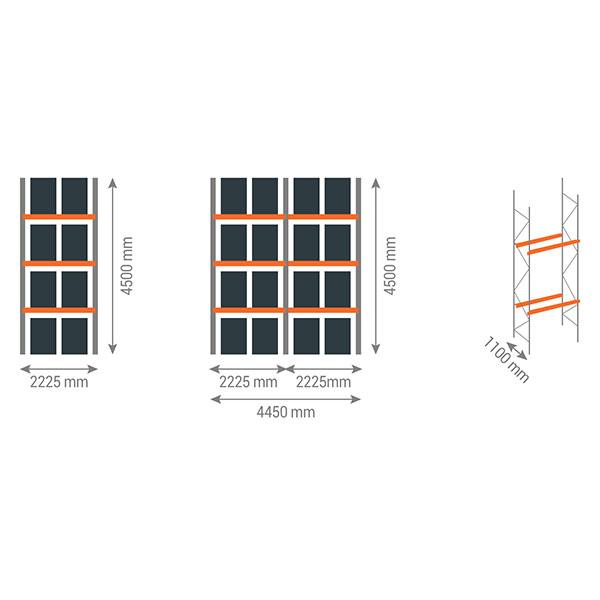 schema rack palettes 3n2225