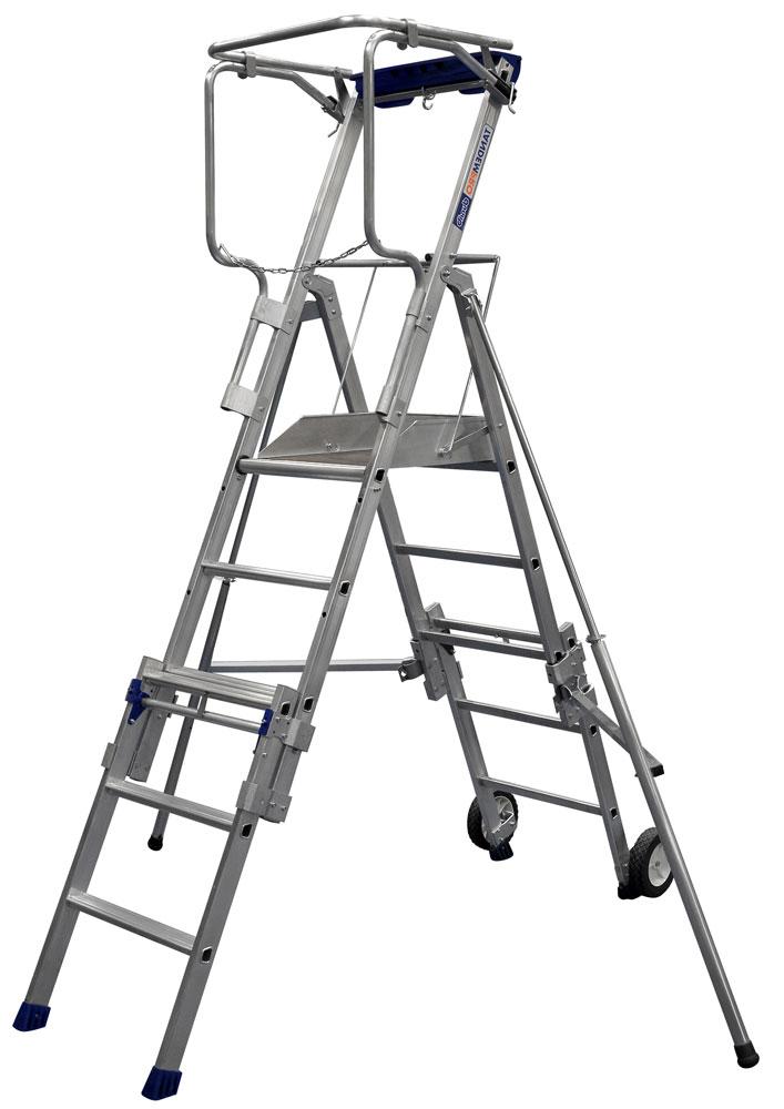 scala a castello con ruote
