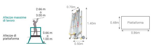 schema scala a castello speciale con piattaforma MPL