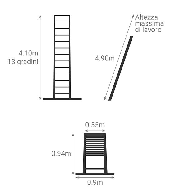 schema scala telescopica 4m10 TEL 70241WS