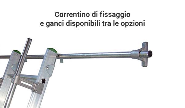 barra fissaggio gancio scala soppalco S15