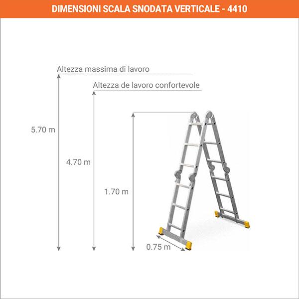 dimensioni Scala snodata verticale 4410P