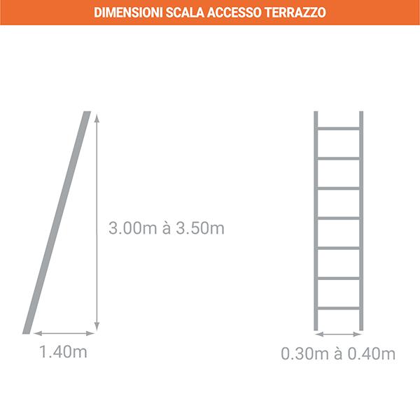 dimensioni scala accesso terrazzo TER 60