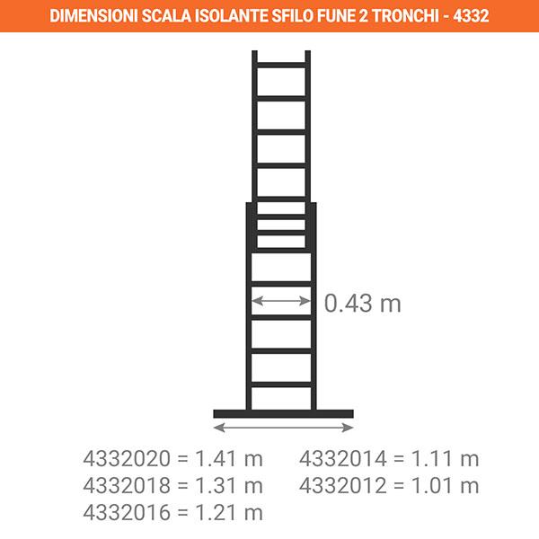 dimensioni scala isolante sfilo fune 2tronchi 4332