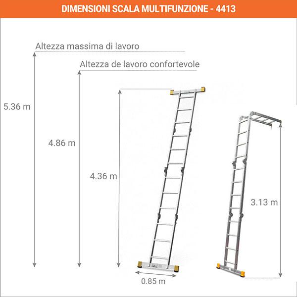 dimensioni scala multifunzione 4413