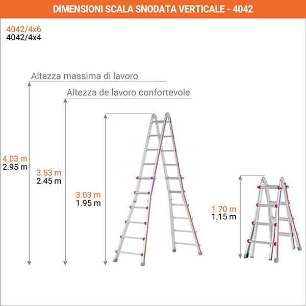 dimensioni scala snodata verticale 4042