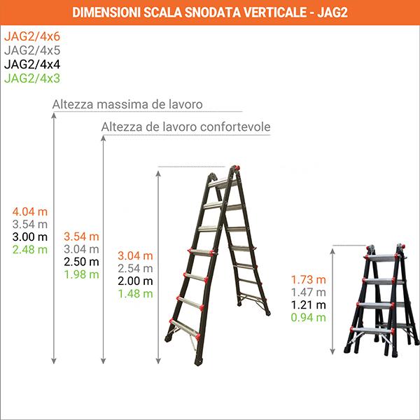 dimensioni scala snodata verticale jag2