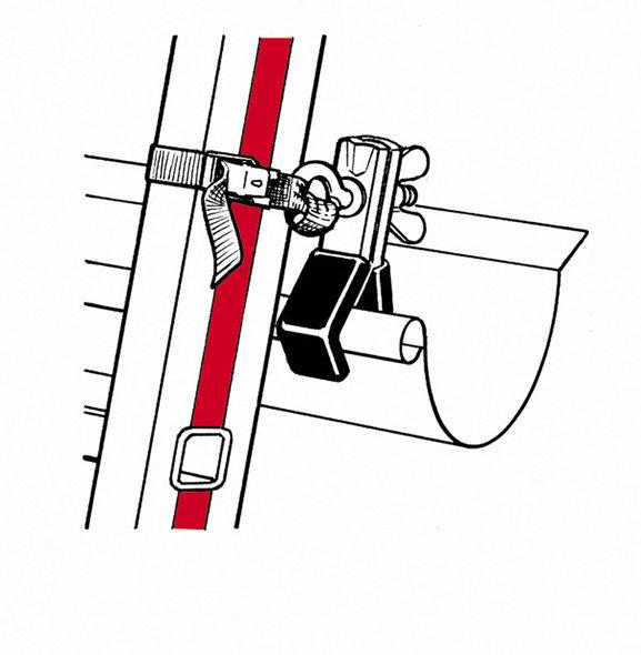 dispositivo di fissaggio della scala sulla grondaia