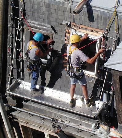 lavorare scale tetto