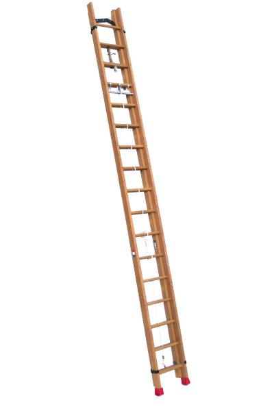 scala legno sfilo fune