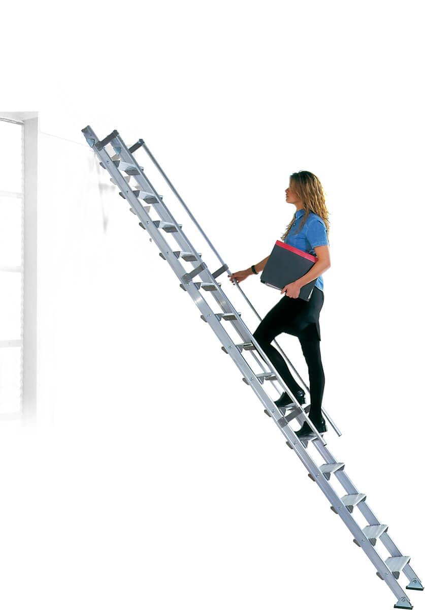 scala per soppalco alluminio