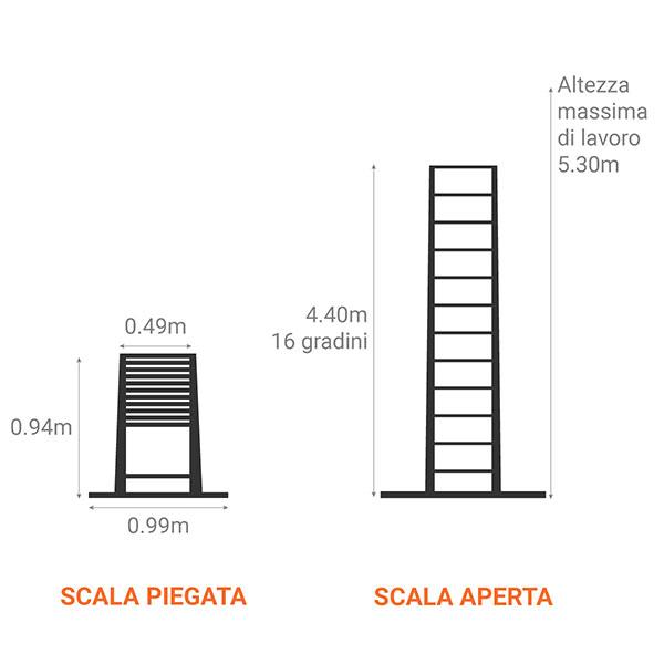 scala telescopica 440 m