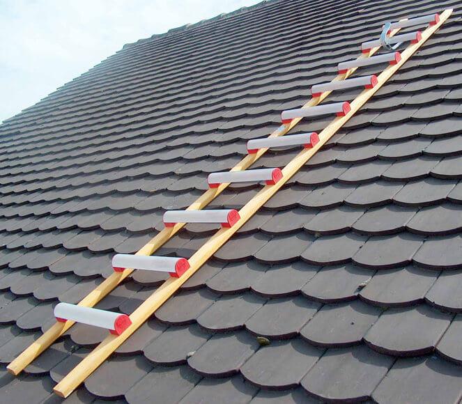 scala da tetto alluminio e legno
