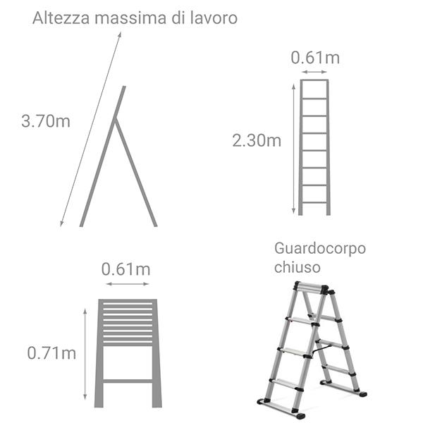 schema scala scaletta telescopica 230