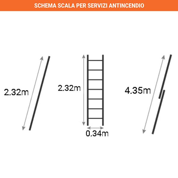 schema scala servizi antincendio pieghevole