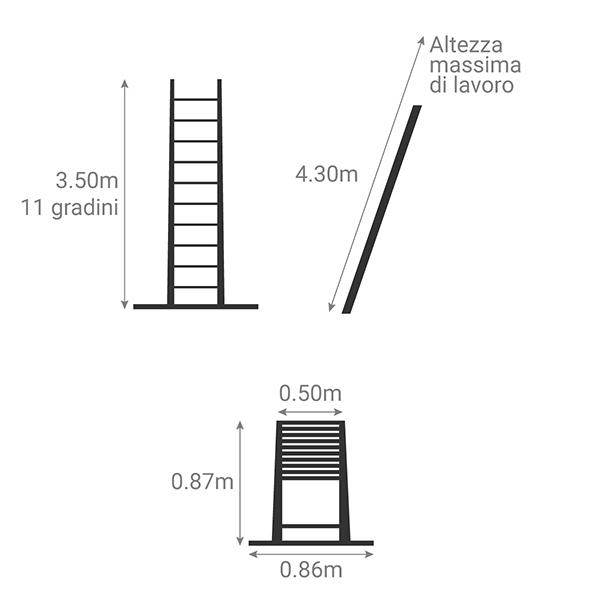 schema scala telescopica 3m50 TEL 70235WS