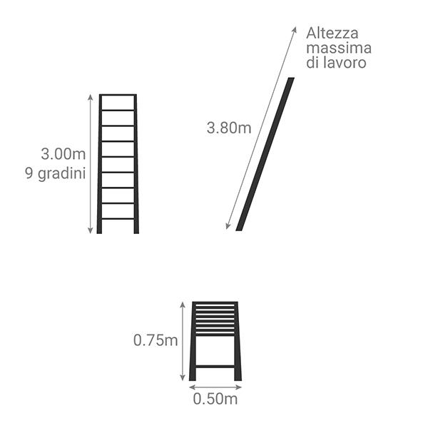 schema scala telescopica classica TEL 60230PPS
