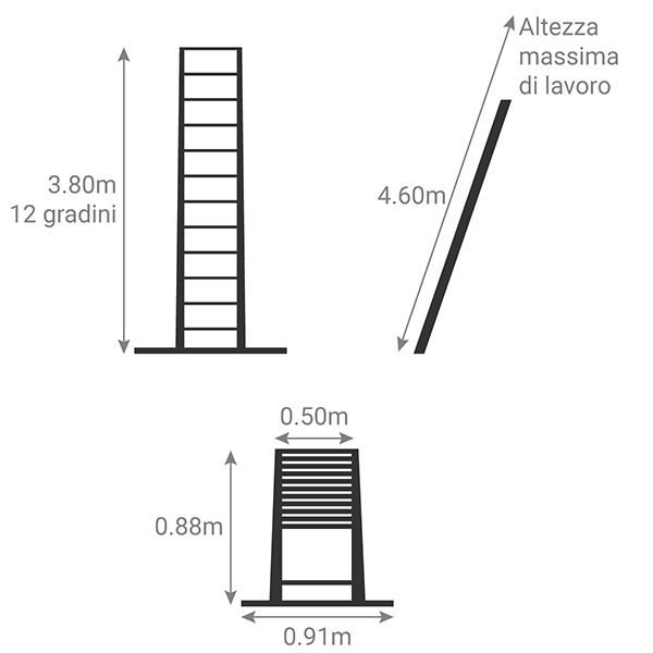 schema scala telescopica classica TEL 60238AWS PPS