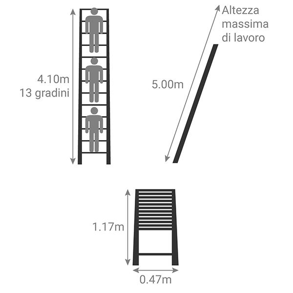 schema scala telescopica pompiere TEL 70741 501