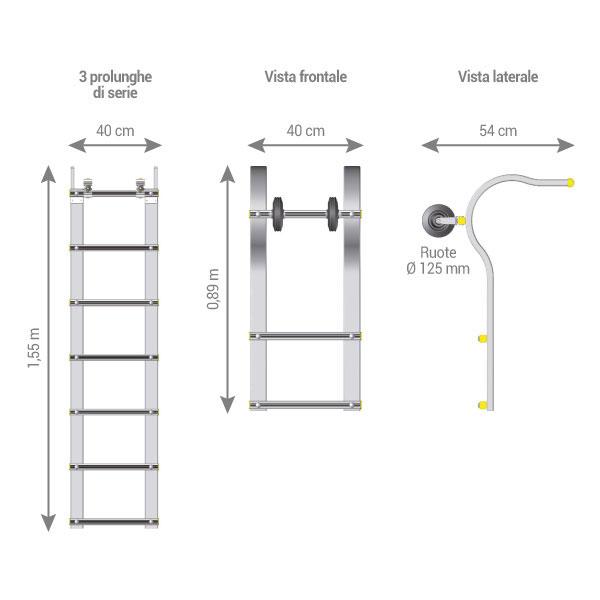 schema scala tetto pieghevole ECHTOIT