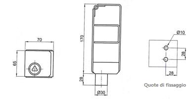 schema dell'antifurto per scala