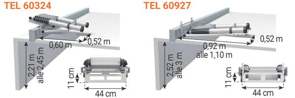 schema scala telescopica per soffitta