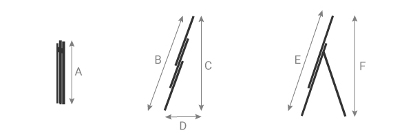 schema della scala componibile 3 tronchi