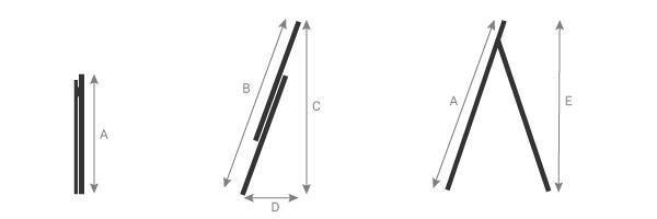 schema della scala componibile