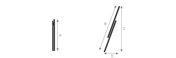 Schema della scala isolante a sfilo 2 elementi