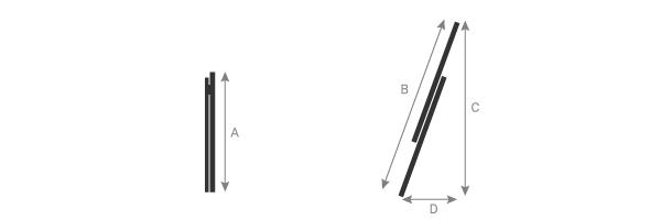 Schema della scala isolante a sfilo con 2 tronchi