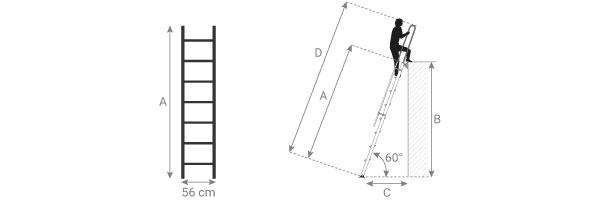 schema della scala per soppalco