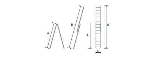 schema scala portatile legno