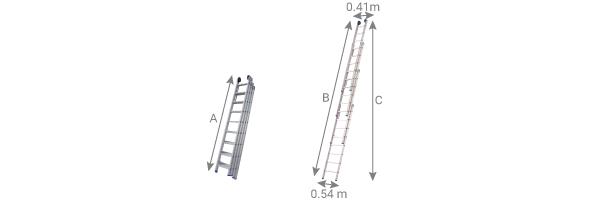 schema della scala a sfilo 4 elementi