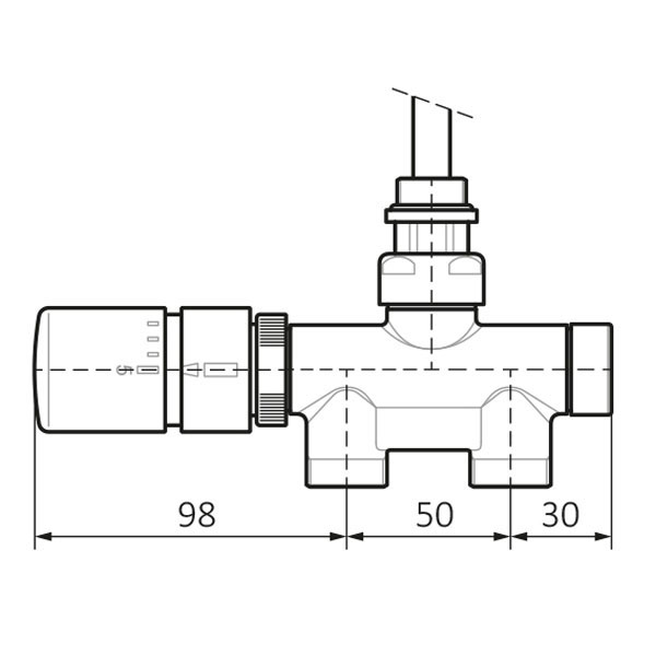 dimensioni kit valvola termostatica v2 pavimento 1
