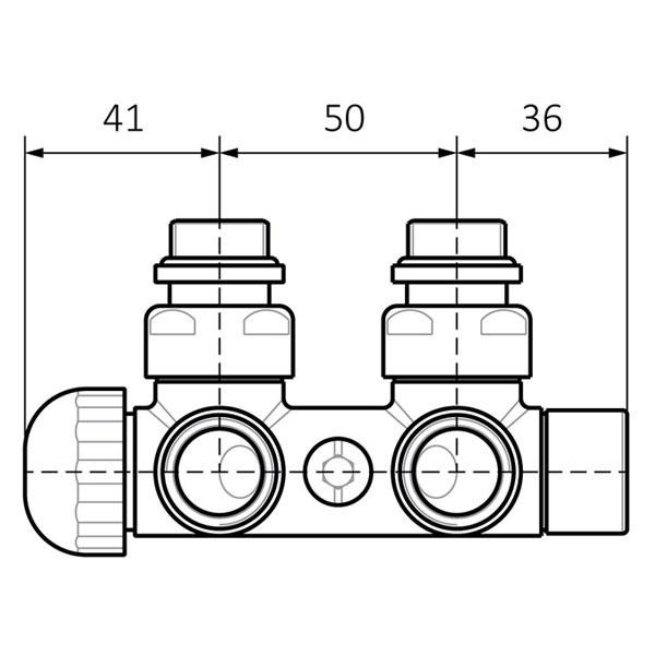 dimensioni valvola termostatizzabile muro 1