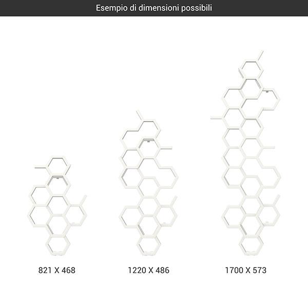 gamma scaldasalviette hex bianco