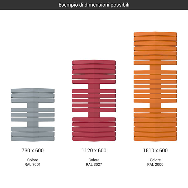 gamma scaldasalviette iron d 600 colore