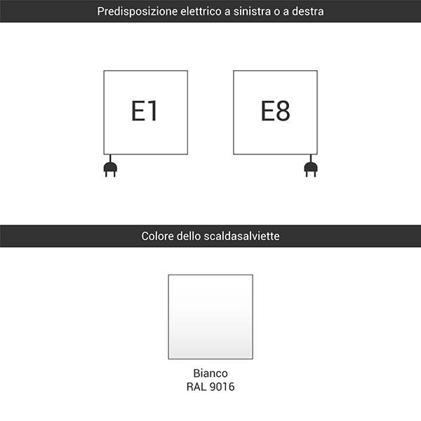 predisposizione e1 e8 bianco