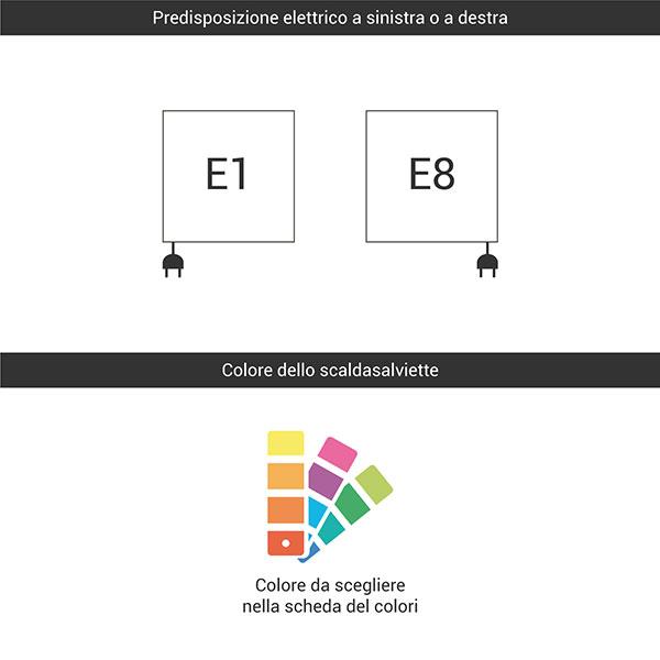predisposizione e1 e8 colore