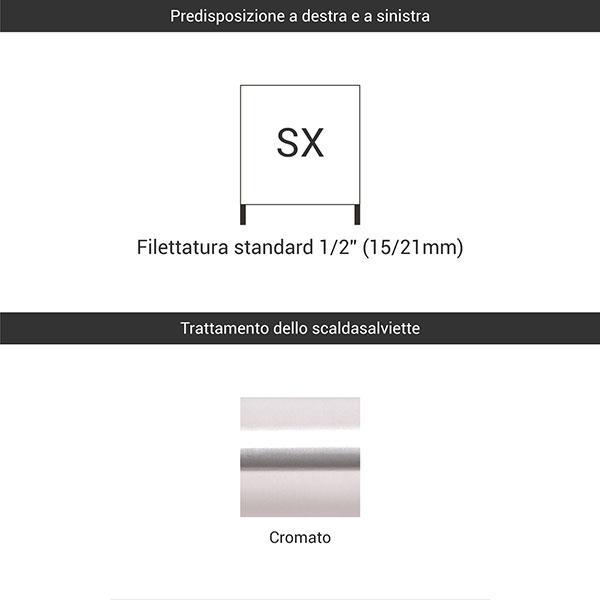 predisposizione sx cromato