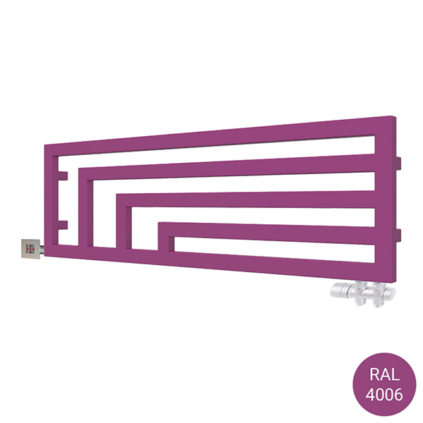 scaldasalviette orizzontale angus y2 ral4006