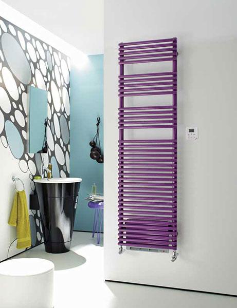 scaldasalviette soffiante forma air violet
