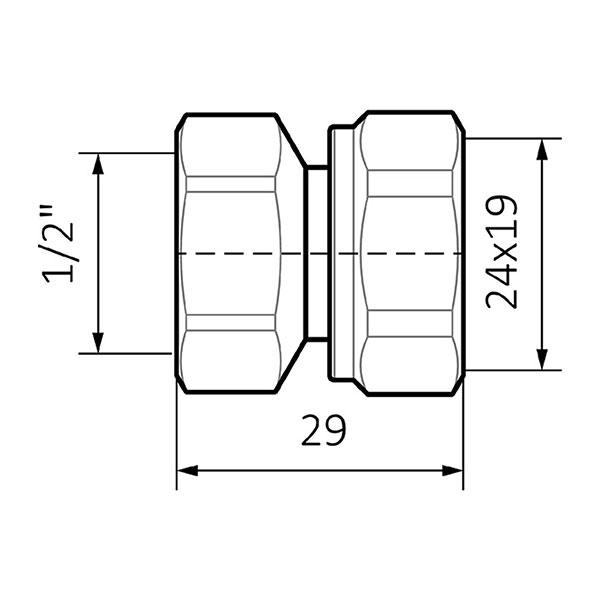 schema adattatore acciaio