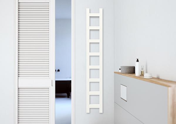 stretto scaldasalviette easy bianco parete